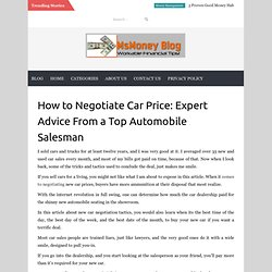 How to Negotiate Car Price: Expert Advice From a Top Automobile Salesman