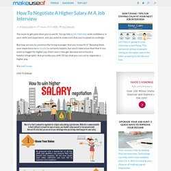 How To Negotiate A Higher Salary At A Job Interview