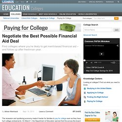 Negotiate the Best Possible Financial Aid Deal