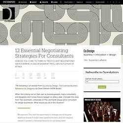 12 Essential Negotiating Strategies For Consultants