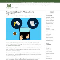 Negotiating Repairs After A Home Inspection - Timberline Inspections LLC