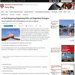 BATNA: Examples of 10 Hard Bargaining Negotiating Skills and Negotiation Strategies