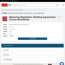 Mastering Negotiation: Building Agreements Across Boundaries