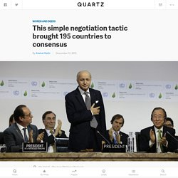 This simple negotiation tactic brought 195 countries to consensus
