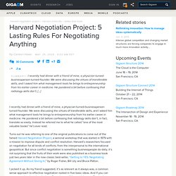 5 lasting rules for negotiating anything