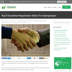 Top 8 Essential Negotiation Skills For Salespeople