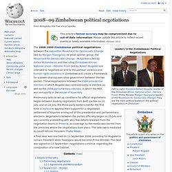 2008–09 Zimbabwean political negotiations