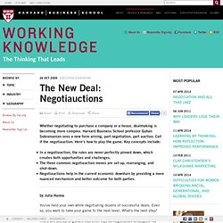 The New Deal: Negotiauctions