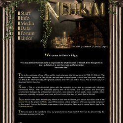 Nehrim Oblivion Mod
