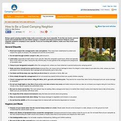 How to be a good camping neighbor - CampingRoadTrip.com