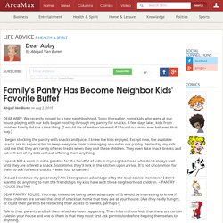 Family's Pantry Has Become Neighbor Kids' Favorite Buffet