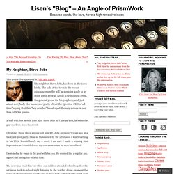 "Lisen's ""Blog"" – An Angle of PrismWork"