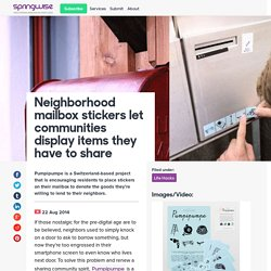 Neighborhood mailbox stickers let communities display items they have to share