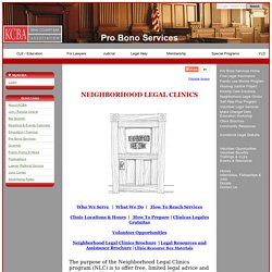 Neighborhood Legal Clinics