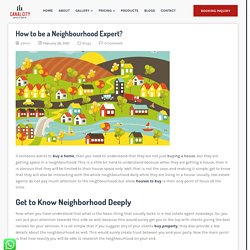 How to be a Neighbourhood Expert? - The Canalcity