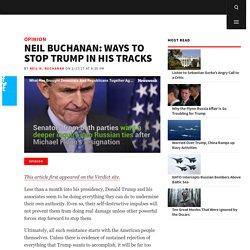 Neil Buchanan: Ways to Stop Trump in his Tracks