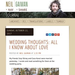 Neil Gaiman's Journal