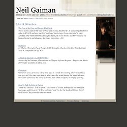 Neil Gaiman - Short Stories