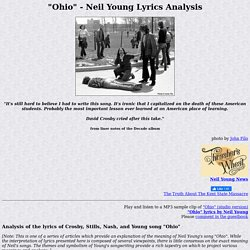 Neil Young Ohio Lyric Analysis