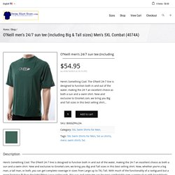 O'Neill men's 24/7 sun tee (including Big & Tall sizes) Men's 5XL Comb