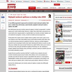 Nejlepší webové aplikace a služby roku 2008