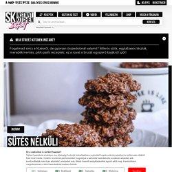 Sütés nélküli zabpelyhes keksz recept