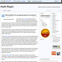 Whoa Nellie! Are we getting ahead of ourselves? - Keith Rispin » Keith Rispin