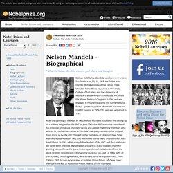 Nelson Mandela - Biography