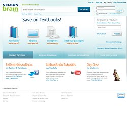 Discount Textbooks for College at CengageBrain: Buy Cheap or Rent Textbooks, eTextbooks, eChapters and Online Study Tools