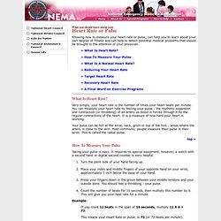NEMA - Health Care - Heart Rate or Pulse
