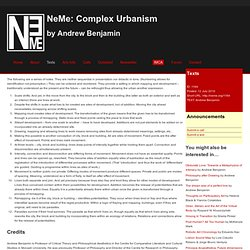 Complex Urbanism