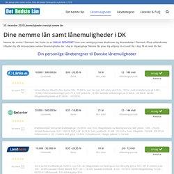 Nemme lån & Lånemuligheder i Danmark, ansøg nemt lån