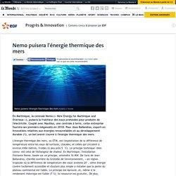 Nemo puisera l'énergie thermique des mers
