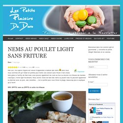 NEMS AU POULET LIGHT SANS FRITURE