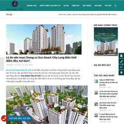 Lý do nên mua Chung cư Eco Smart City Long Biên thời điểm đầu mở bán?