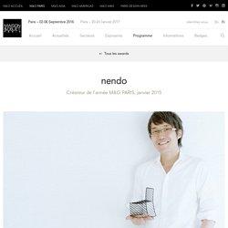 nendo – Créateurs de l'année – MAISON&OBJET PARIS