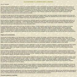 NEOCHAMANISMO Y EL MOVIMIENTO MÍSTICO MODERNO