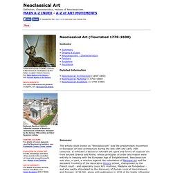 Neoclassical Art, Neoclassicism (1770-1830)