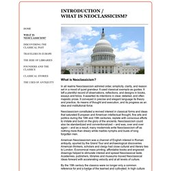 and America 1750-1900 - What Is Neoclassicism?
