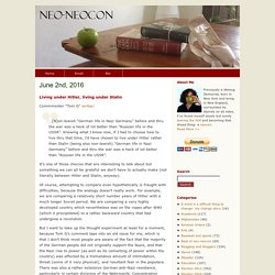 neo-neocon » Blog Archive » Living under Hitler, living under Stalin