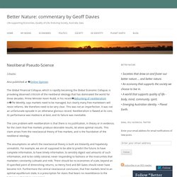 Better Nature: commentary by Geoff Davies