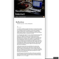 Neoliberalism and the Internet