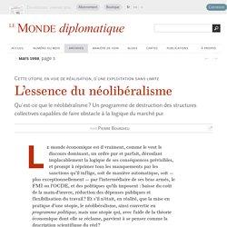 L'essence du néolibéralisme, par Pierre Bourdieu