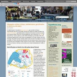 Géographie urbaine critique, néolibéralisme, gentrification et droit à la ville