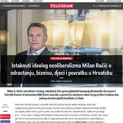 Istaknuti ideolog neoliberalizma Milan Račić o odrastanju, biznisu, djeci i povratku u Hrvatsku – Telegram.hr