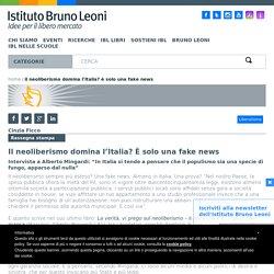 Il neoliberismo domina l'Italia? È solo una fake news