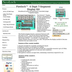Fireloch - 4-Digit 7-Segment Display Kit