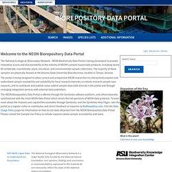 NEON Biorepository Data Portal Home
