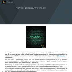 How To Purchase A Neon Sign