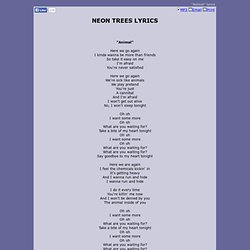 animals lyrics